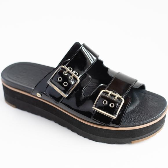 e58b38af3c4 UGG Australia Cammie Black Platform Slide Sandals